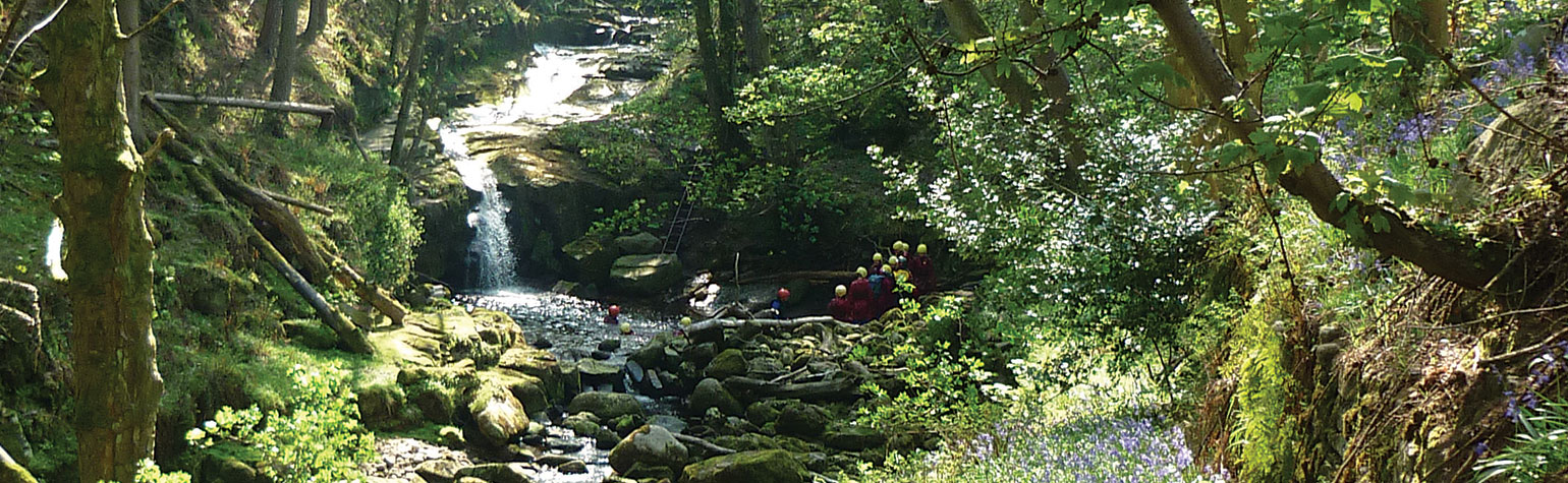 Gorge walking at Blayshaw Ghyll