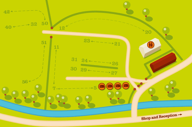 Plan of Studfold Caravan, Camping and Glamping Park