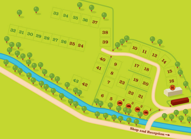 Studfold Caravan and Camping Park Site Plan