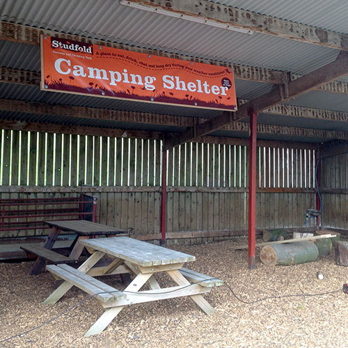 Studfold camping shelter