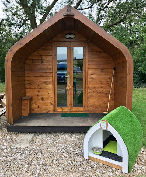 Glamping Pod with Dog Pod