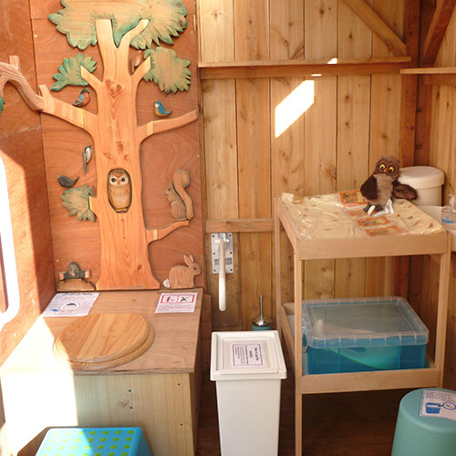 Eco loo at Studfold Adventure trails