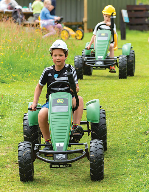Go-karts at Studfold Adventure Trails