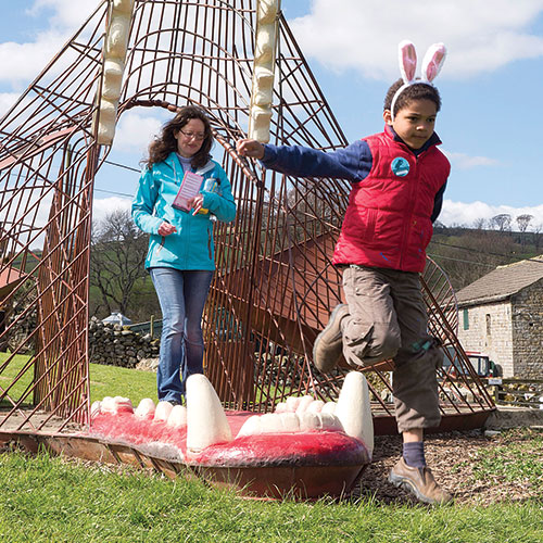 Visitors to Studfold Adventure Trail